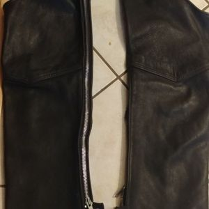kerr Other - Kerr Leathers Black Leather Motorcycle Riding Chap